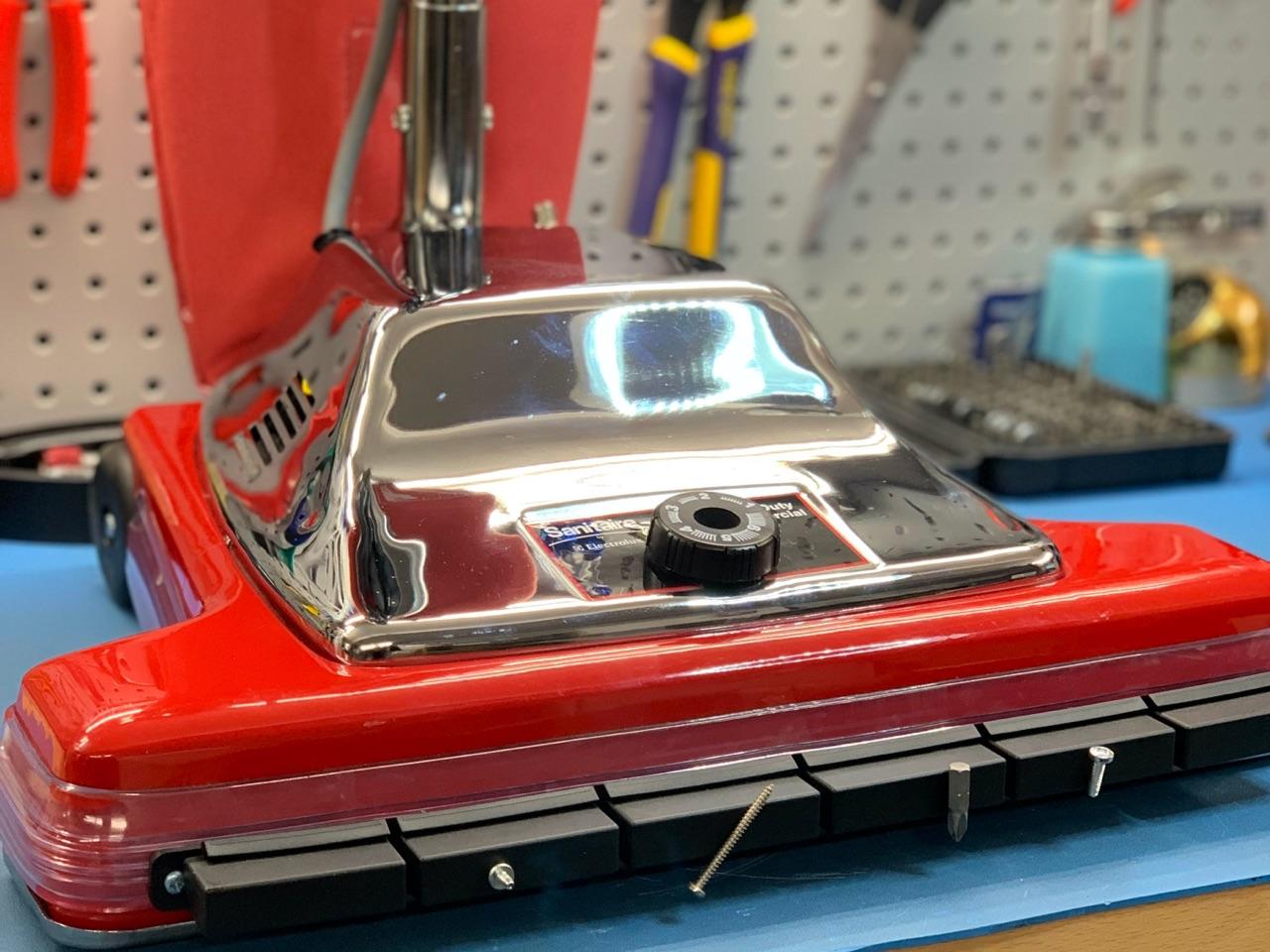 commercial vacuum after repair