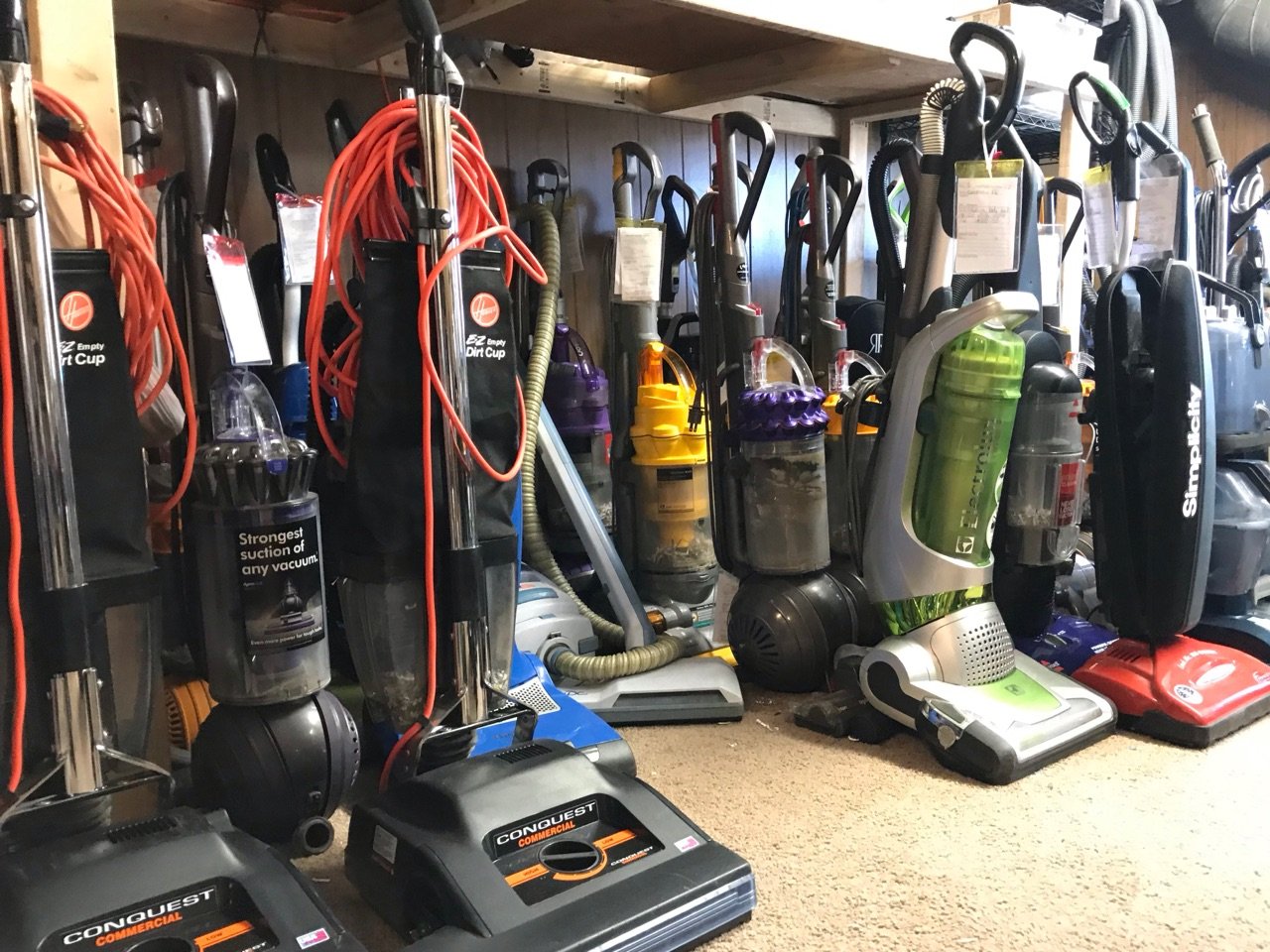 repaired residential and commercial vacuums